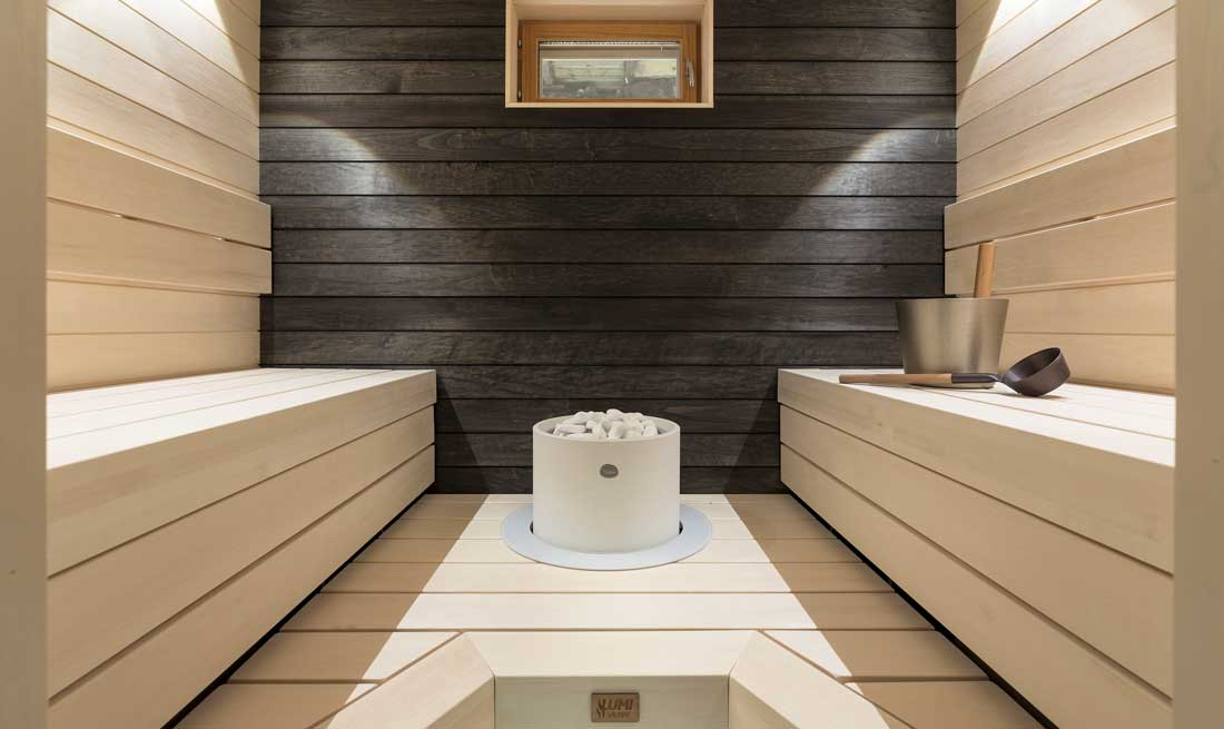 Aspen and black alder are the choice for a quality-focused person's sauna and bathroom.