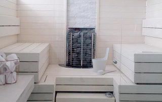 Lumitrendi sauna aspen panels & bench boards.