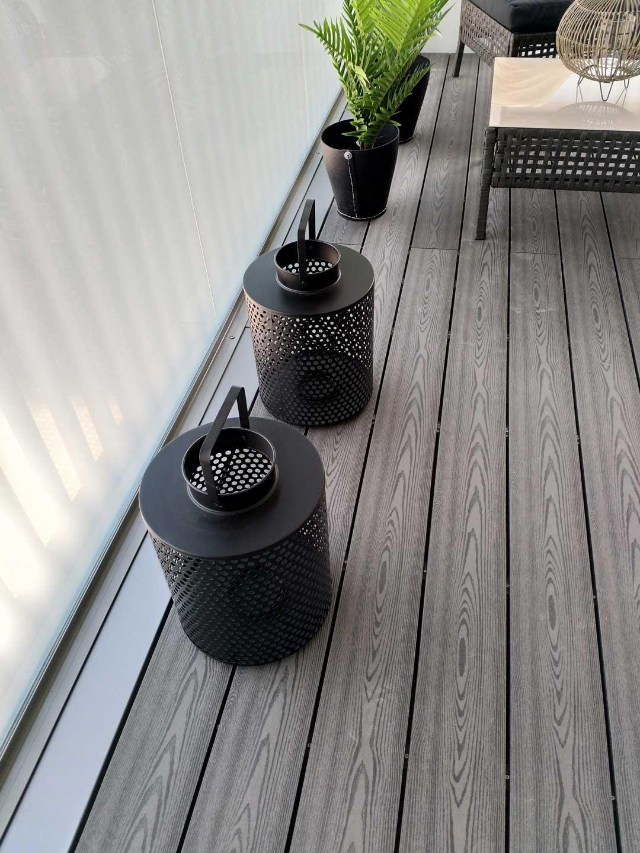 Puukomposiitti on kestävä ja ekologinen materiaali, joka sopii terassille ja parvekkeelle.